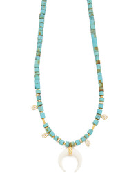 Ja double horn turquoise beaded necklace medium 673179