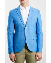 Blue oxford skinny fit blazer medium 278429