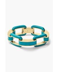 MICHAEL Michael Kors Michl Kors Modern Mix Link Bracelet Turquoise Gold