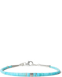 Pilar Lovato Turquoise And Sterling Silver Bracelet