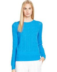 Aquamarine Cable Sweater