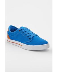 Aquamarine Canvas Low Top Sneakers