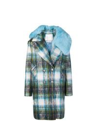 Giada Benincasa Checked Double Breasted Coat
