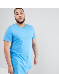 d57ea0414704 ... ASOS DESIGN Plus Super Longline T Shirt In Blue