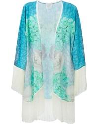 Aquamarine Floral Kimono