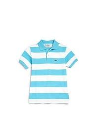 Aquamarine Horizontal Striped Polo