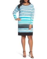 MICHAEL Michael Kors Plus Size Michl Michl Kors Abbey Stripe Boatneck Jersey Shift Dress