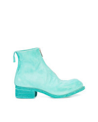 Aquamarine Leather Ankle Boots