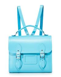 Aquamarine Leather Backpack