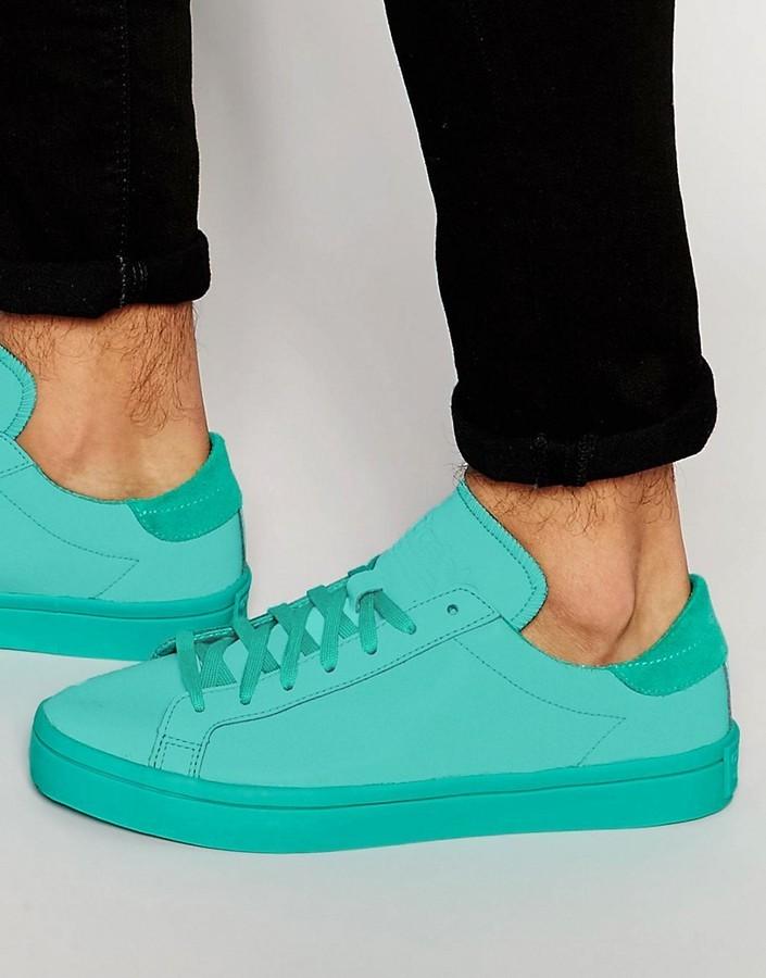 e35935be281995 ... adidas Originals Court Vantage Adicolor Sneakers In Green S80256 ...