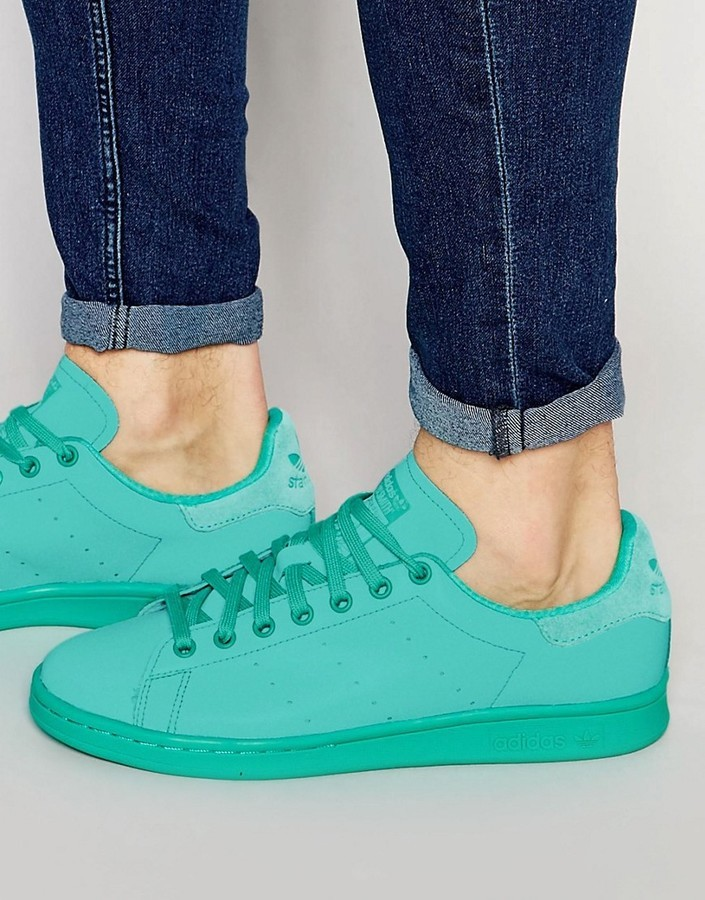 san francisco 2a9a4 62961 £68, adidas Originals Stan Smith Adicolor Sneakers In Green S80250