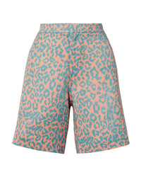 Double Rainbouu Leopard Print Poplin Shorts