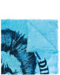 Diesel Logo Print Scarf