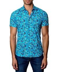 Aquamarine Print Short Sleeve Shirt
