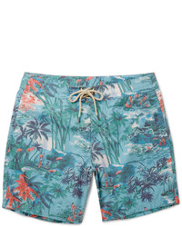 Faherty Mid Length Printed Swim Shorts