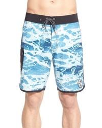 7c355ec37b0 ... Vans Print Scalloped Board Shorts