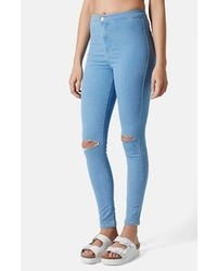 Moto joni ripped high rise skinny jeans medium 100514
