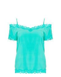 Aquamarine Short Sleeve Blouse