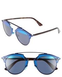 Christian Dior Dior So Real 48mm Brow Bar Sunglasses Black Spotty Tortoise
