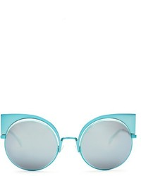 Fendi Round Frame Metal Sunglasses
