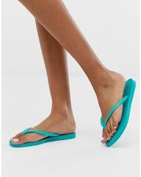 Havaianas Slim Flip Flops In Bright Turquoise