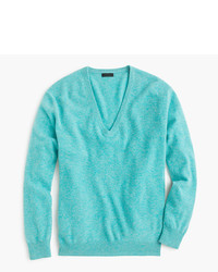 J.Crew Italian Cashmere Boyfriend V Neck Sweater