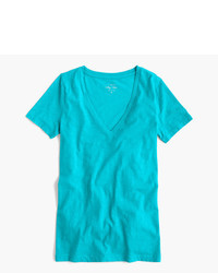 J.Crew Vintage Cotton V Neck T Shirt