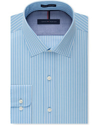 Aquamarine Vertical Striped Dress Shirt