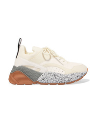 Stella McCartney Eclypse Neoprene Trimmed Faux Leather And Suede Sneakers
