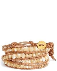 Beige Beaded Bracelet