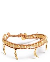 Chan Luu Beaded Leather Charm Bracelet