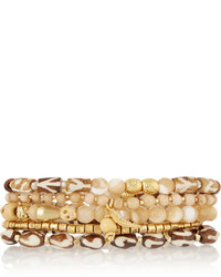 Chan Luu Set Of Five Gold Plated