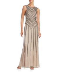 Aidan Aidan Mattox Sleeveless Beaded Gown