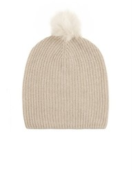 Rag and Bone Rag Bone Cynthia Fur Pompom Cashmere Blend Beanie Hat