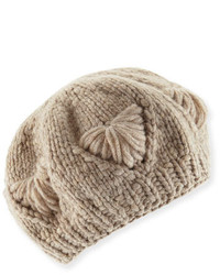 Il borgo cashmere knit beret hat medium 394807