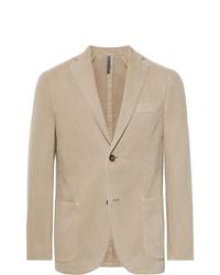 Incotex Beige Gart Dyed Cotton And Cashmere Blend Twill Blazer