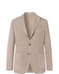 Boglioli Sand K Jacket Slim Fit Unstructured Stretch Cotton Drill Blazer