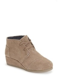 Toms Desert Youth Wedge Bootie