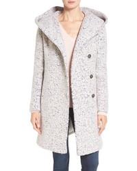 Cole haan signature hooded boucle coat medium 1126470
