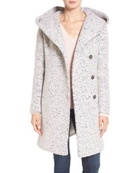 Cole Haan Signature Hooded Boucle Coat
