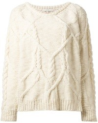 Beige Cable Sweater