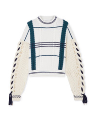 Carven Cable Knit Wool And Alpaca Blend Sweater