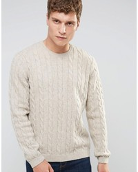 Cable sweater in wool mix medium 823233