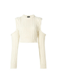 Calvin Klein 205W39nyc Cold Shoulder Chunky Jumper