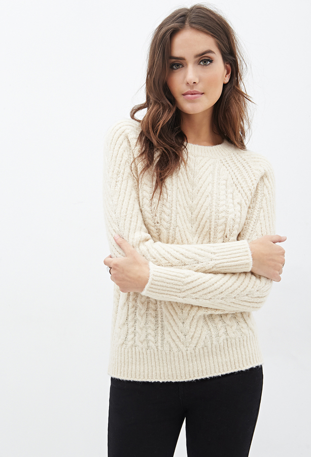 Forever 21 Contemporary Cable Knit Sweater Where To Buy How To Wear