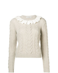 Philosophy di Lorenzo Serafini Lace Collar Sweater