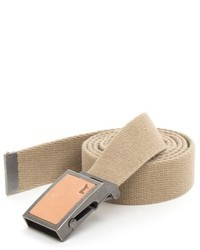Beige Canvas Belt