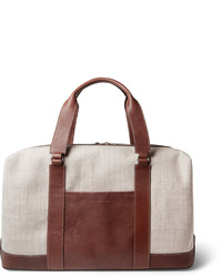 Beige Canvas Holdall