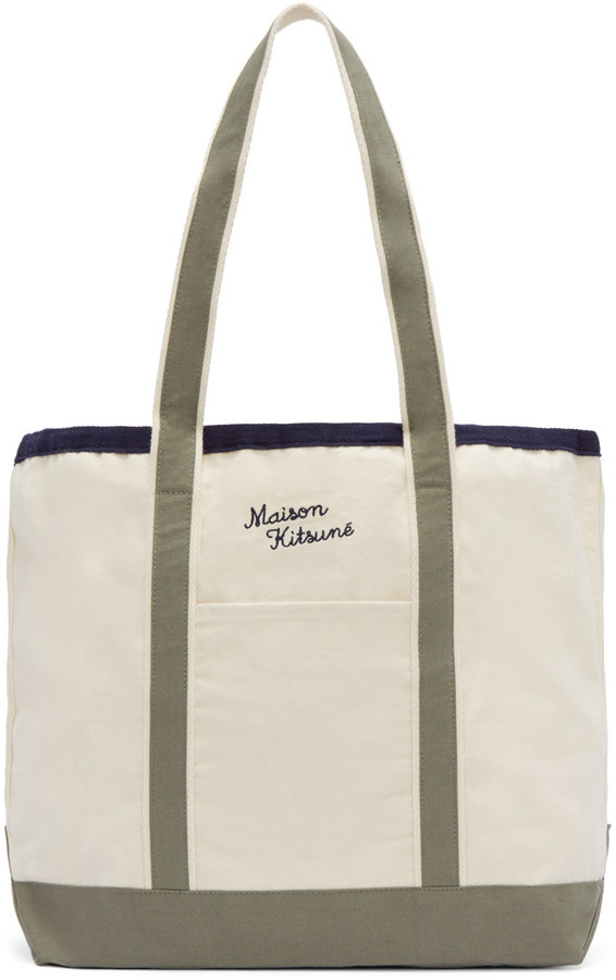 MAISON KITSUNÉ Maison Kitsuné Off-White Richelieu Tote Bag  76dc47946cf65