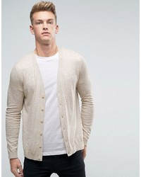 Cardigan in oatmeal cotton medium 1193939